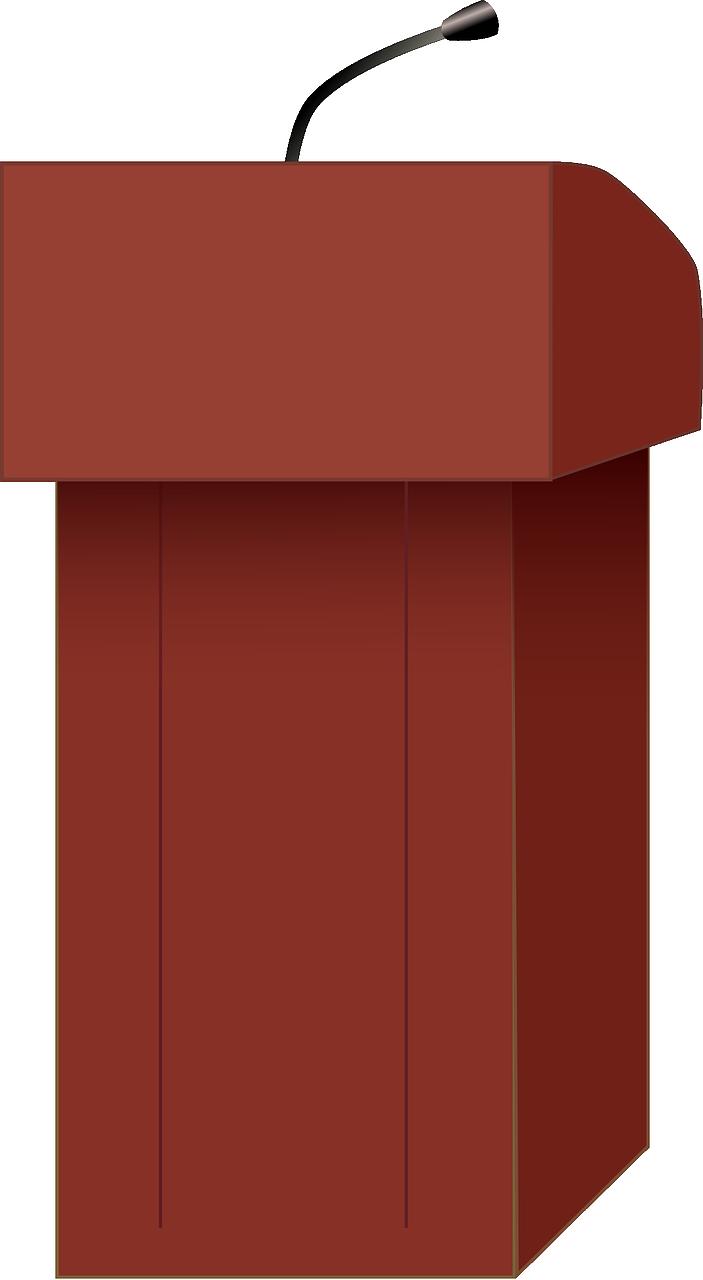 podium, speaker, speech